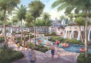Rendering of Nocatee Water Park Lazy River
