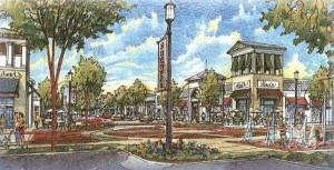 Rendering of Nocatee Town Center Streetscape