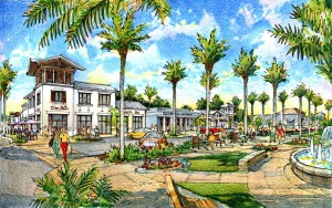 Rendering of Nocatee Town Center Retail Shops